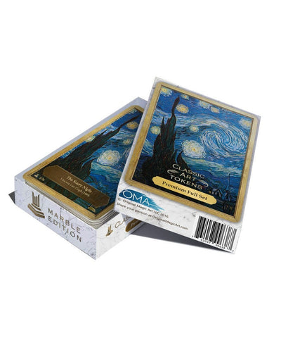 Premium Full Set - Marble Edition - Token Set - Original Magic Art - Accessories for Magic the Gathering and other card games