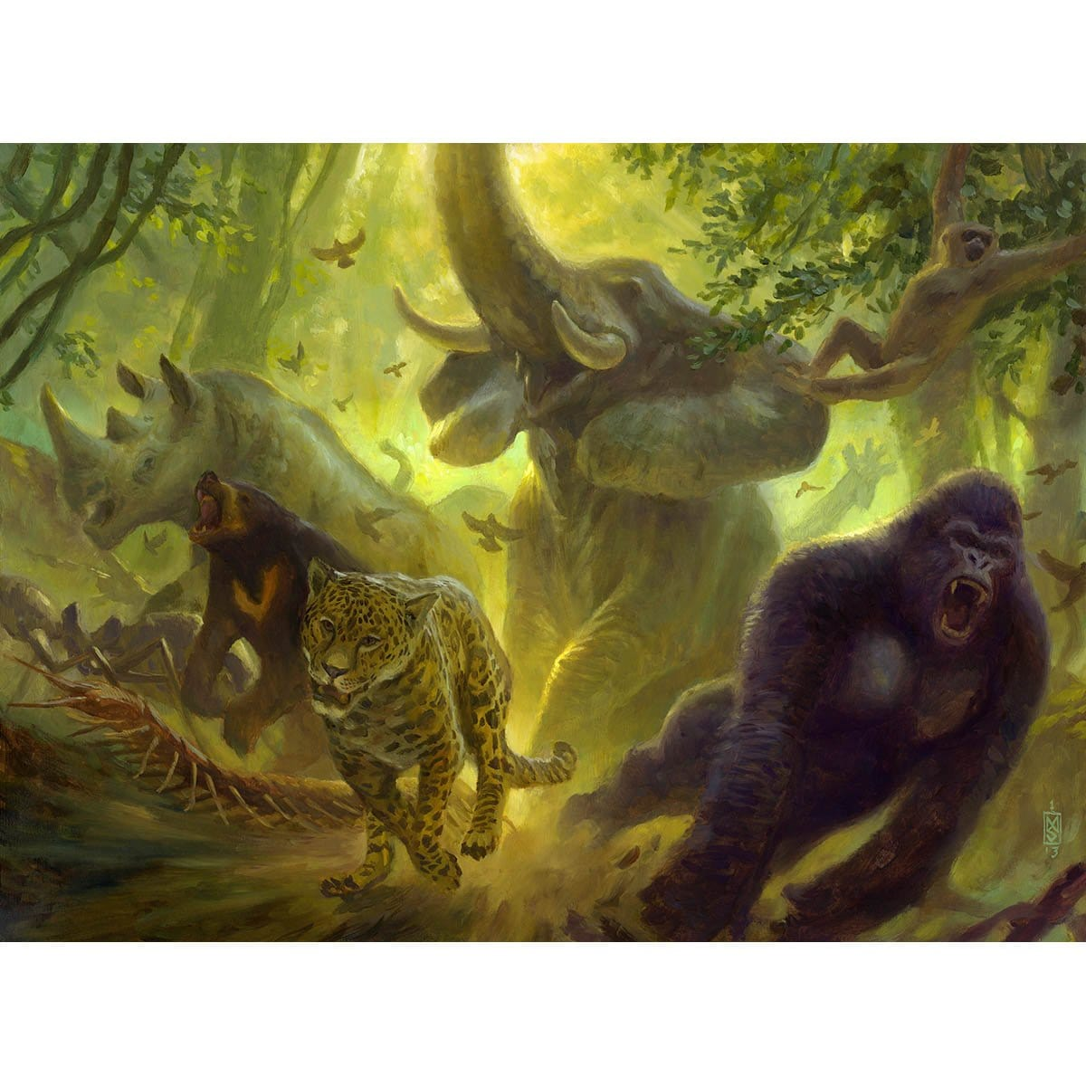Primal Vigor Print - Print - Original Magic Art - Accessories for Magic the Gathering and other card games