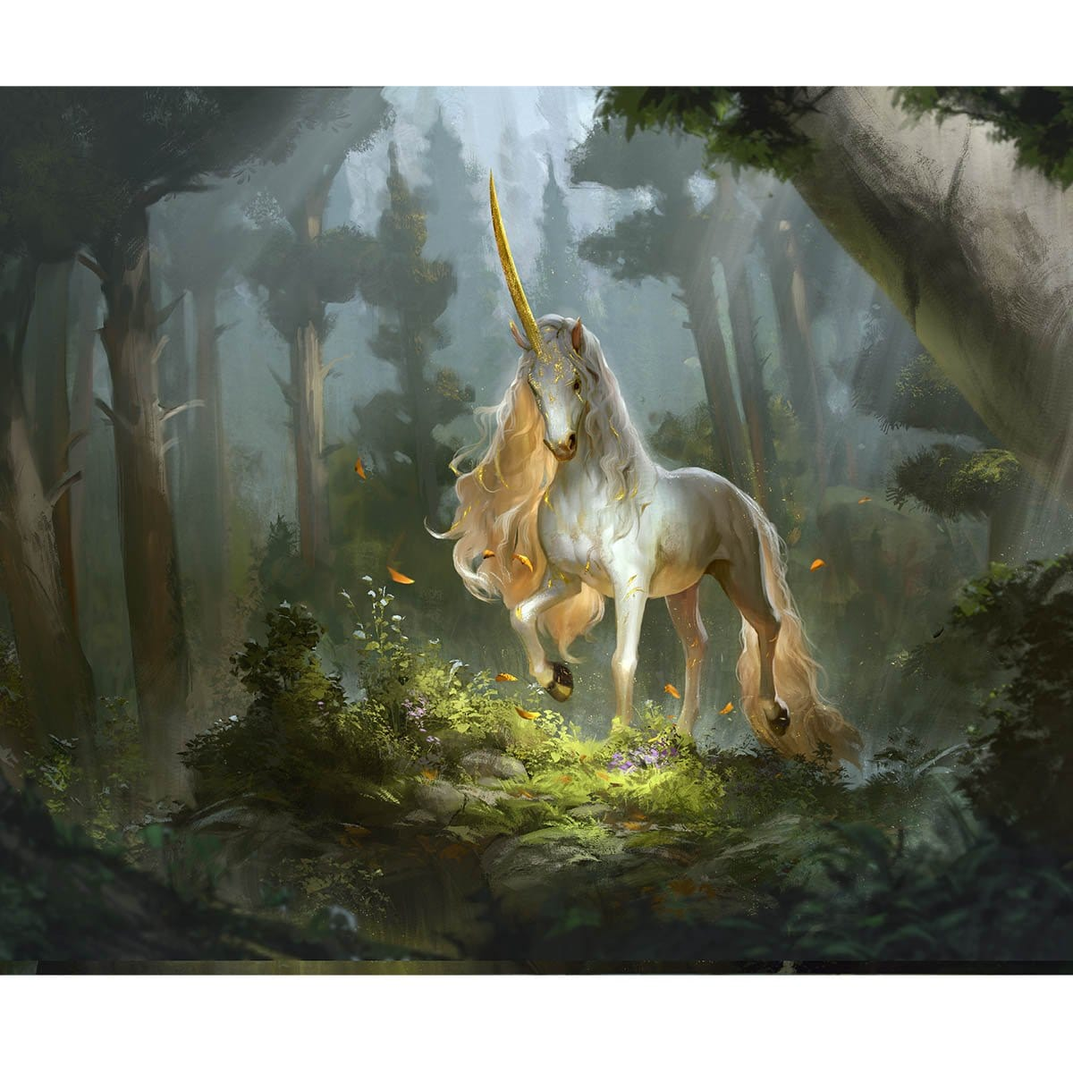 Prized Unicorn Print - Print - Original Magic Art - Accessories for Magic the Gathering and other card games