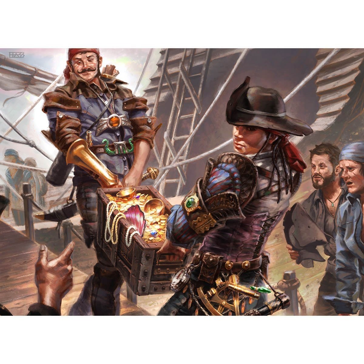 Prosperous Pirates Print - Print - Original Magic Art - Accessories for Magic the Gathering and other card games