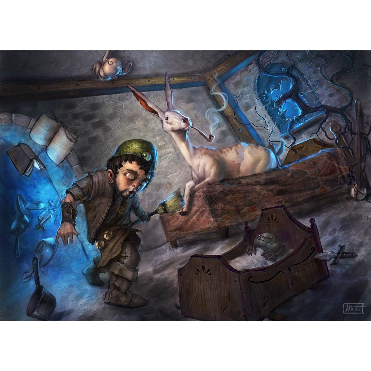 Couch's Mischief Print - Print - Original Magic Art - Accessories for Magic the Gathering and other card games