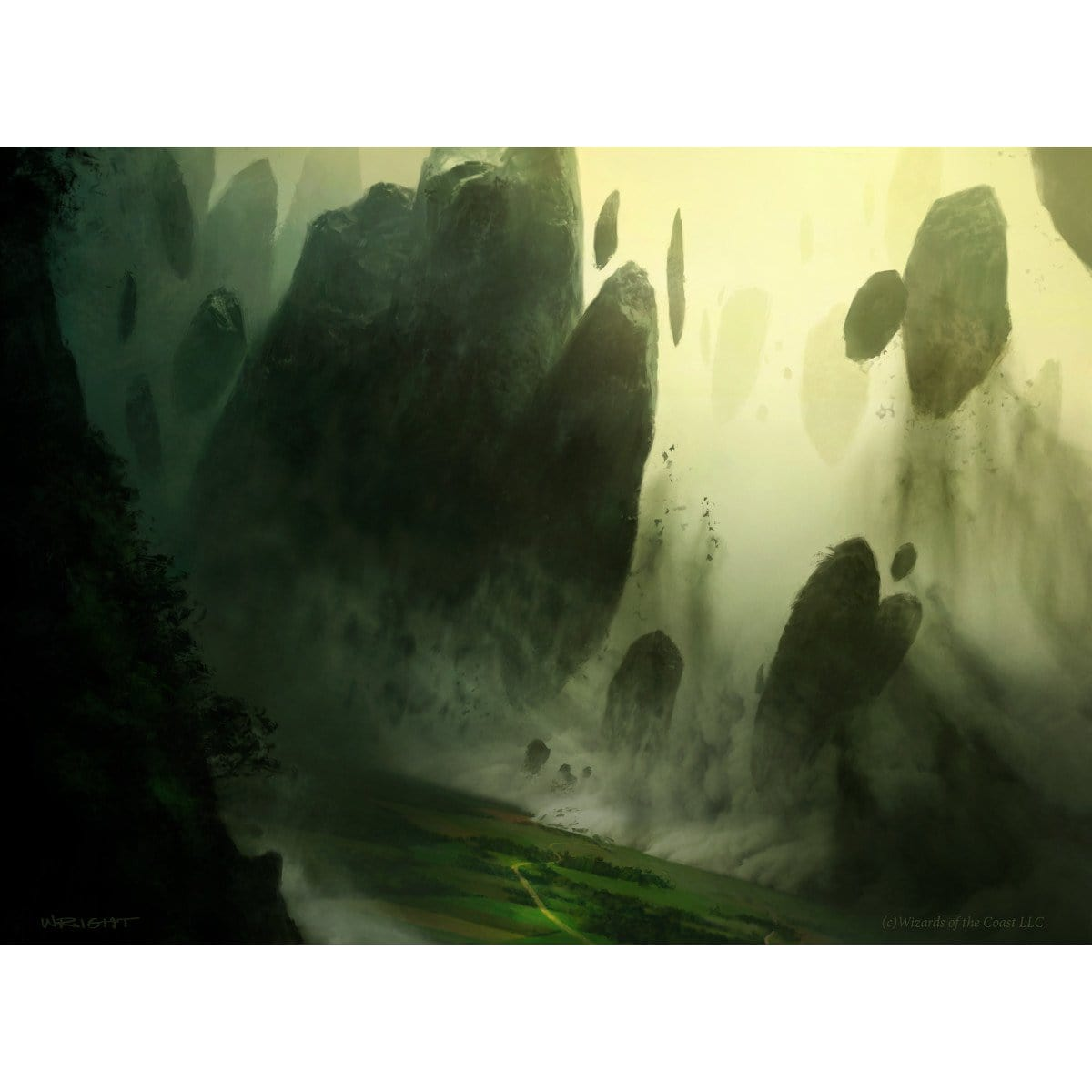 Encroaching Wastes Print - Print - Original Magic Art - Accessories for Magic the Gathering and other card games
