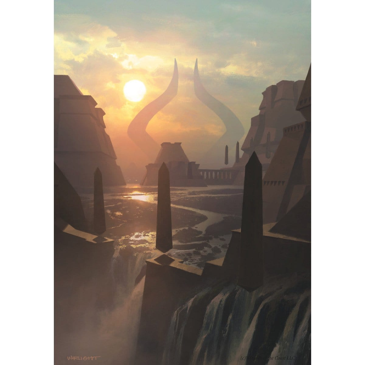 Island (Amonkhet) Print - Print - Original Magic Art - Accessories for Magic the Gathering and other card games