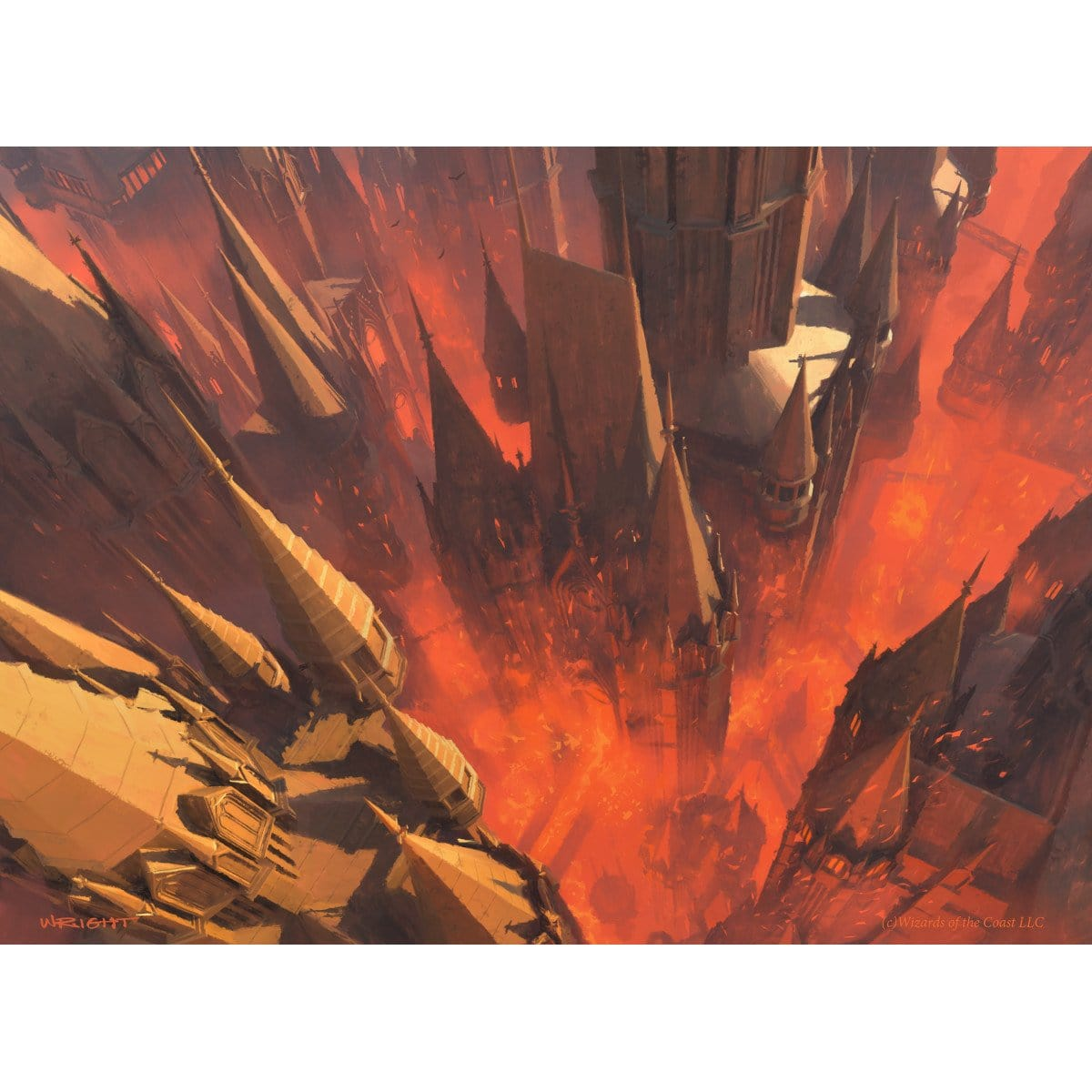 Mountain (Return to Ravnica) Print - Print - Original Magic Art - Accessories for Magic the Gathering and other card games