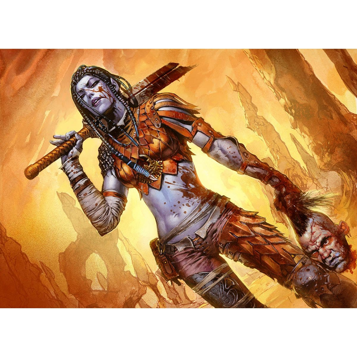 Radha, Heir to Keld Print - Print - Original Magic Art - Accessories for Magic the Gathering and other card games