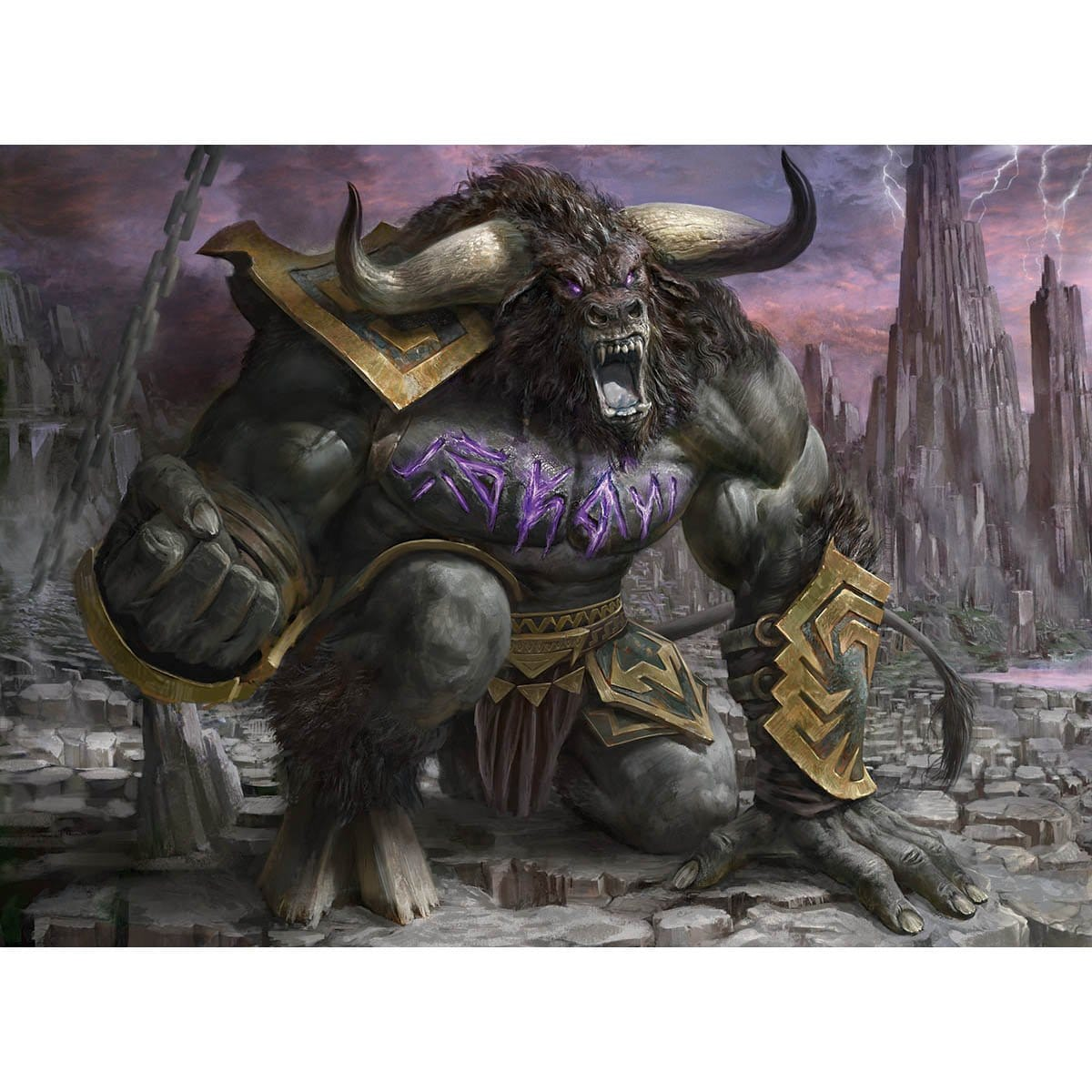 Rage-Scarred Berserker Print - Print - Original Magic Art - Accessories for Magic the Gathering and other card games