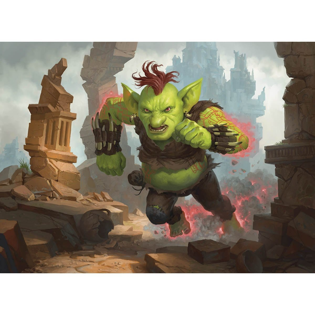 Raging Goblin Print - Print - Original Magic Art - Accessories for Magic the Gathering and other card games