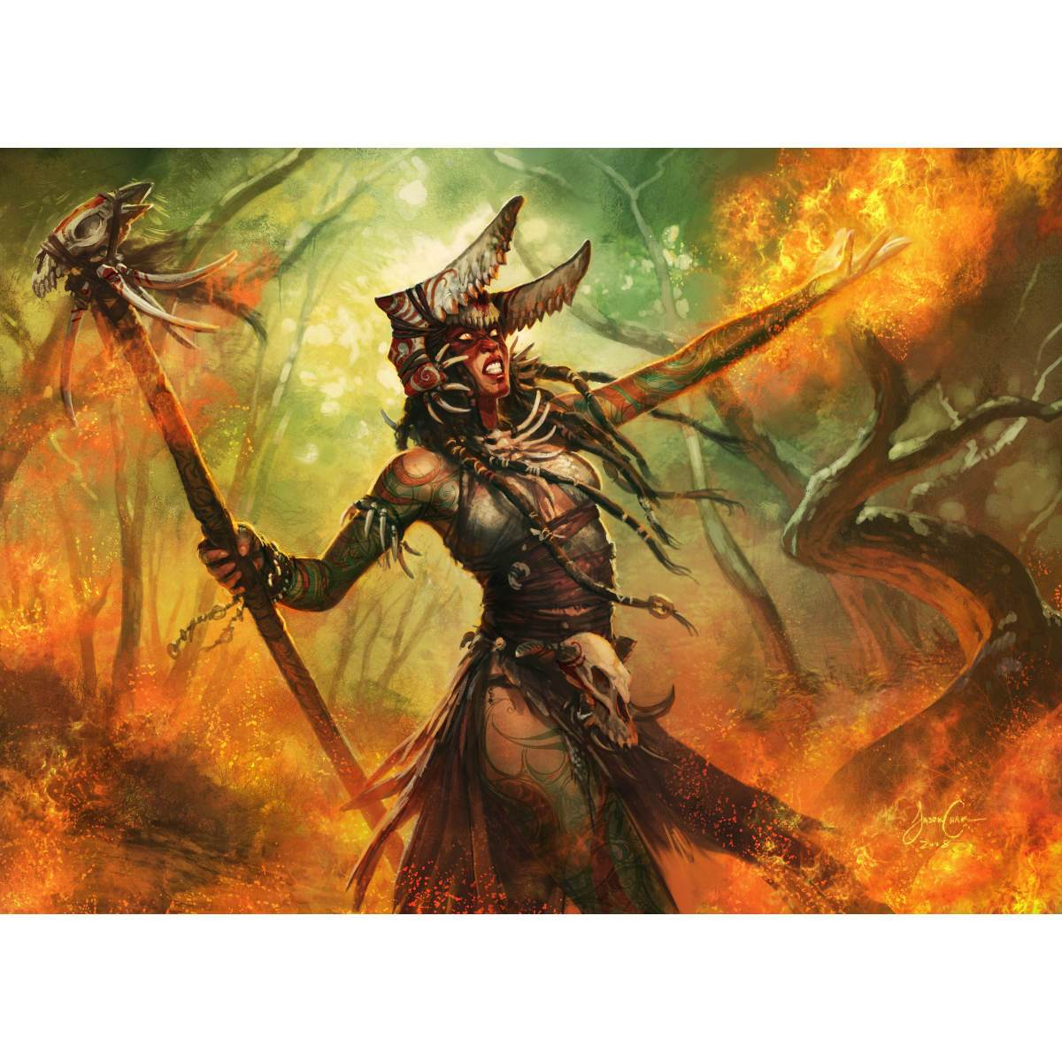 Rakka Mar Print - Print - Original Magic Art - Accessories for Magic the Gathering and other card games