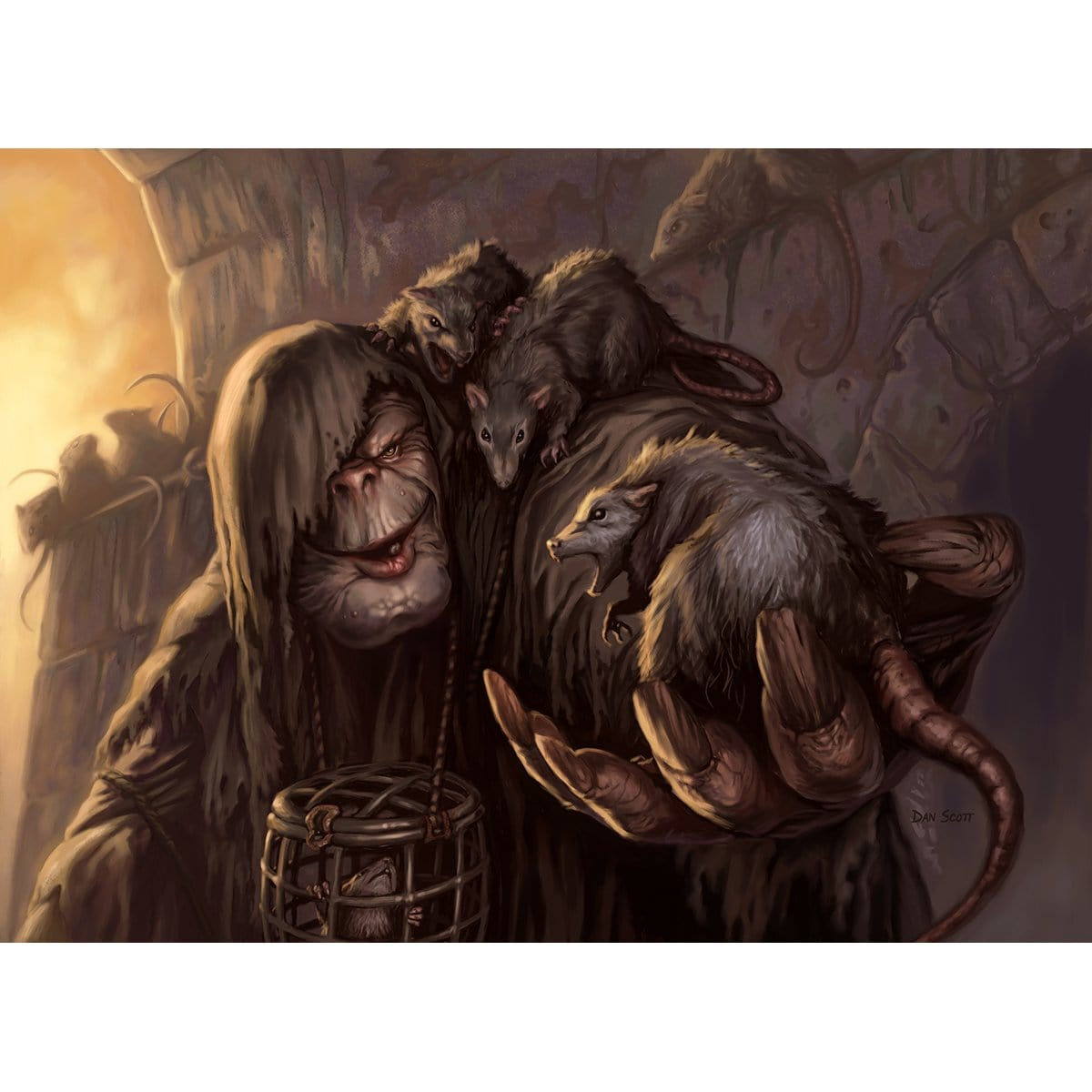 Rat Catcher Print - Print - Original Magic Art - Accessories for Magic the Gathering and other card games
