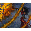 Red Elemental Blast Print - Print - Original Magic Art - Accessories for Magic the Gathering and other card games
