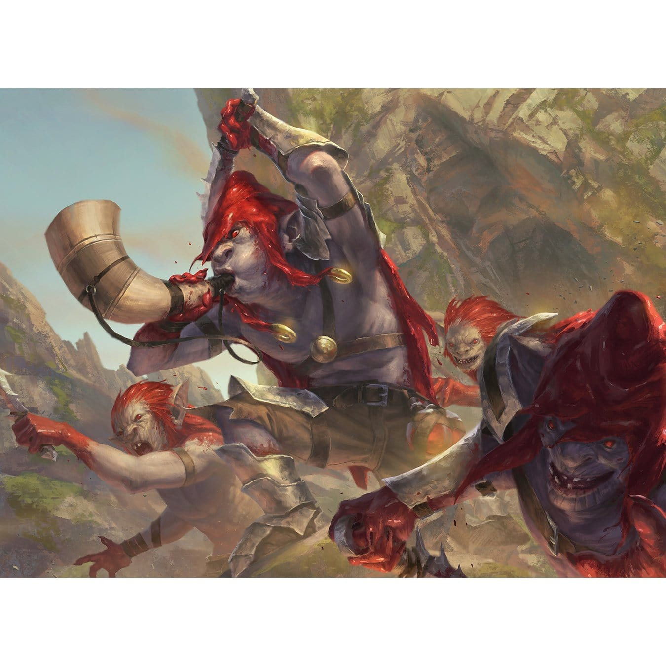 Redcap Raiders Print - Print - Original Magic Art - Accessories for Magic the Gathering and other card games