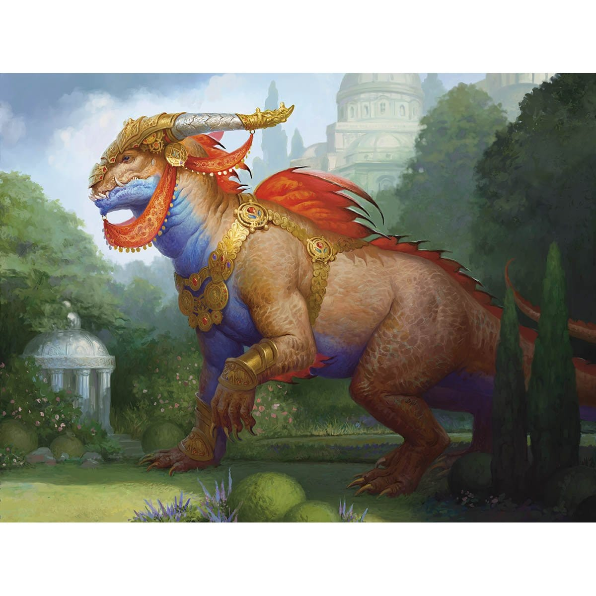 Regal Behemoth Print - Print - Original Magic Art - Accessories for Magic the Gathering and other card games