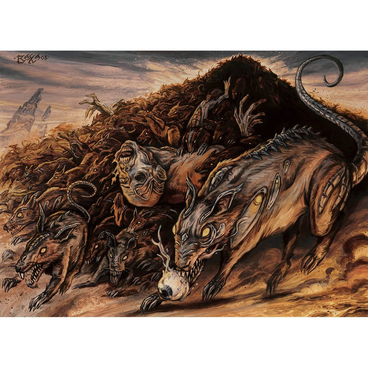 Relentless Rats Print - Print - Original Magic Art - Accessories for Magic the Gathering and other card games
