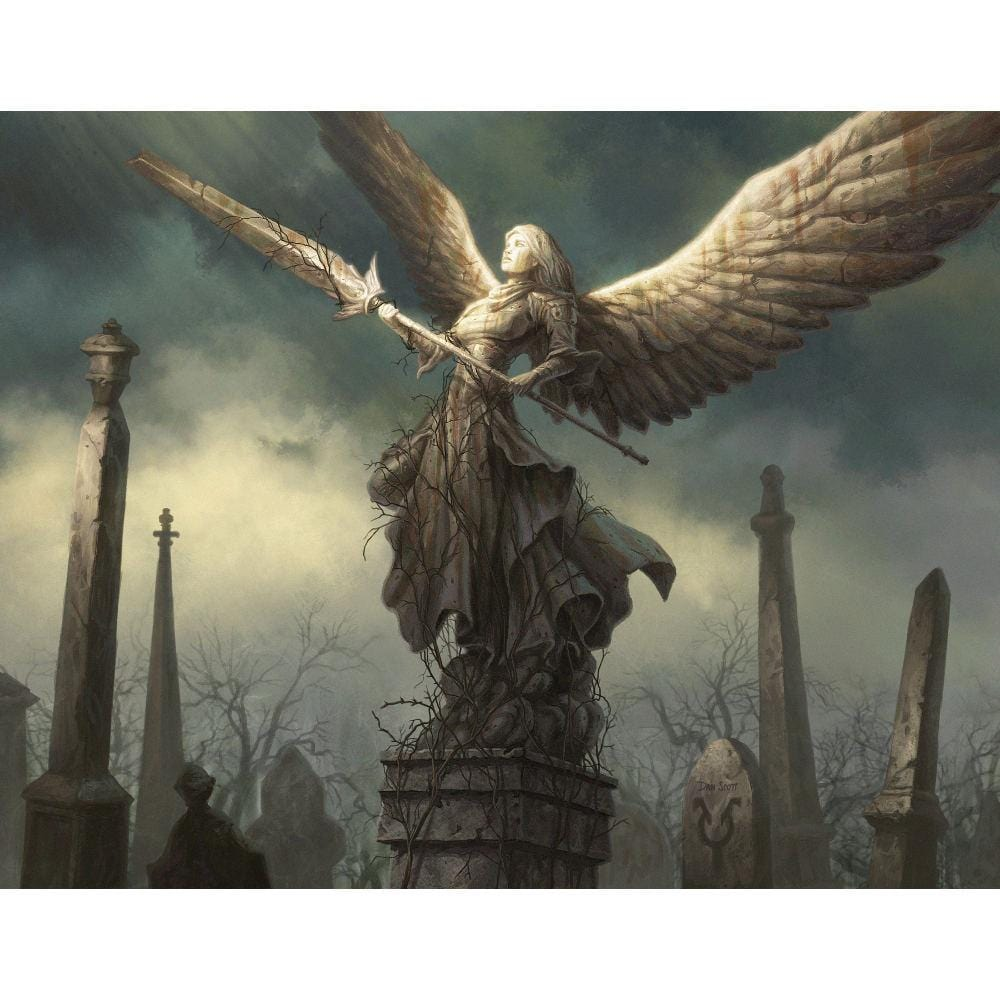 Angel's Tomb Print - Print - Original Magic Art - Accessories for Magic the Gathering and other card games