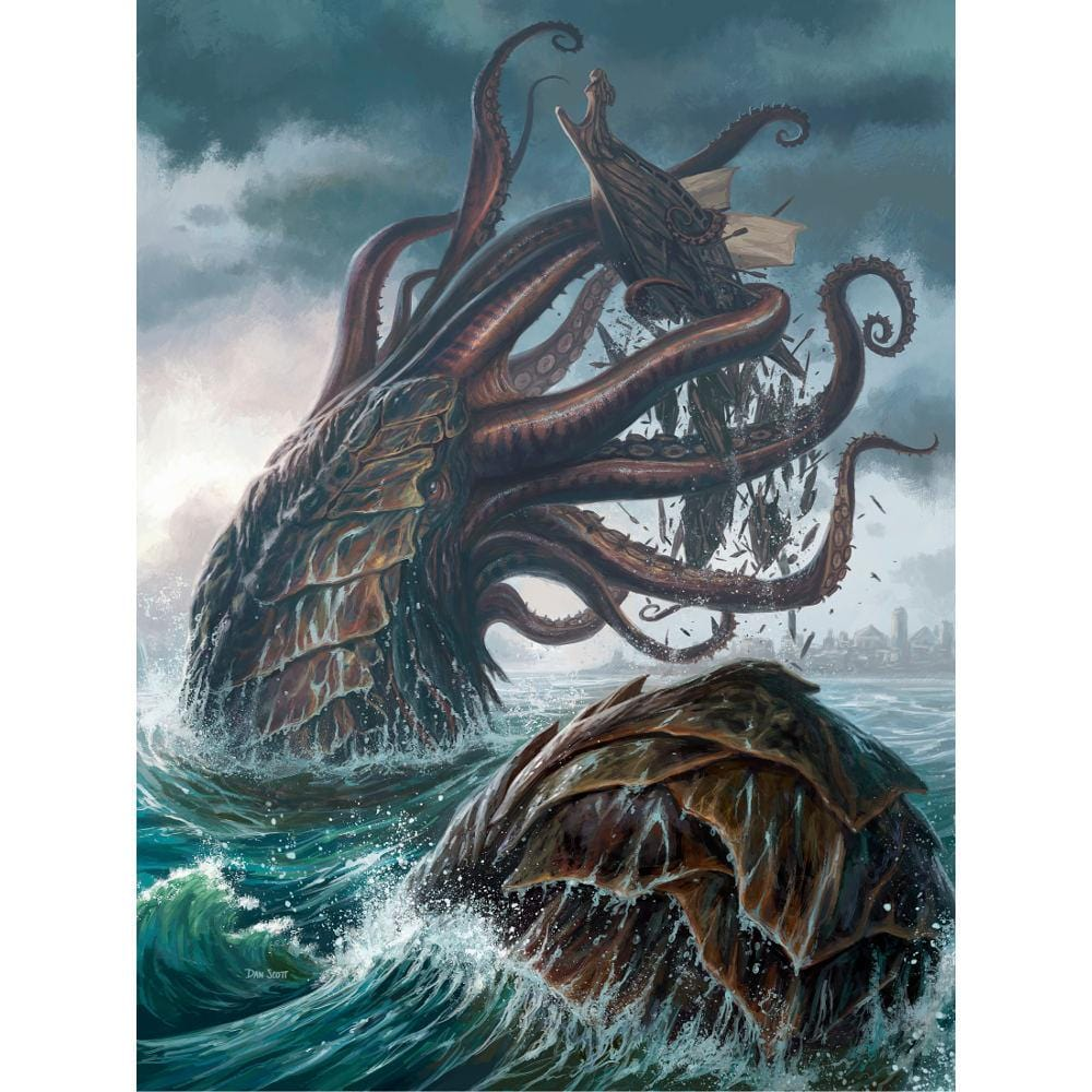 Kraken Token Print - Print - Original Magic Art - Accessories for Magic the Gathering and other card games