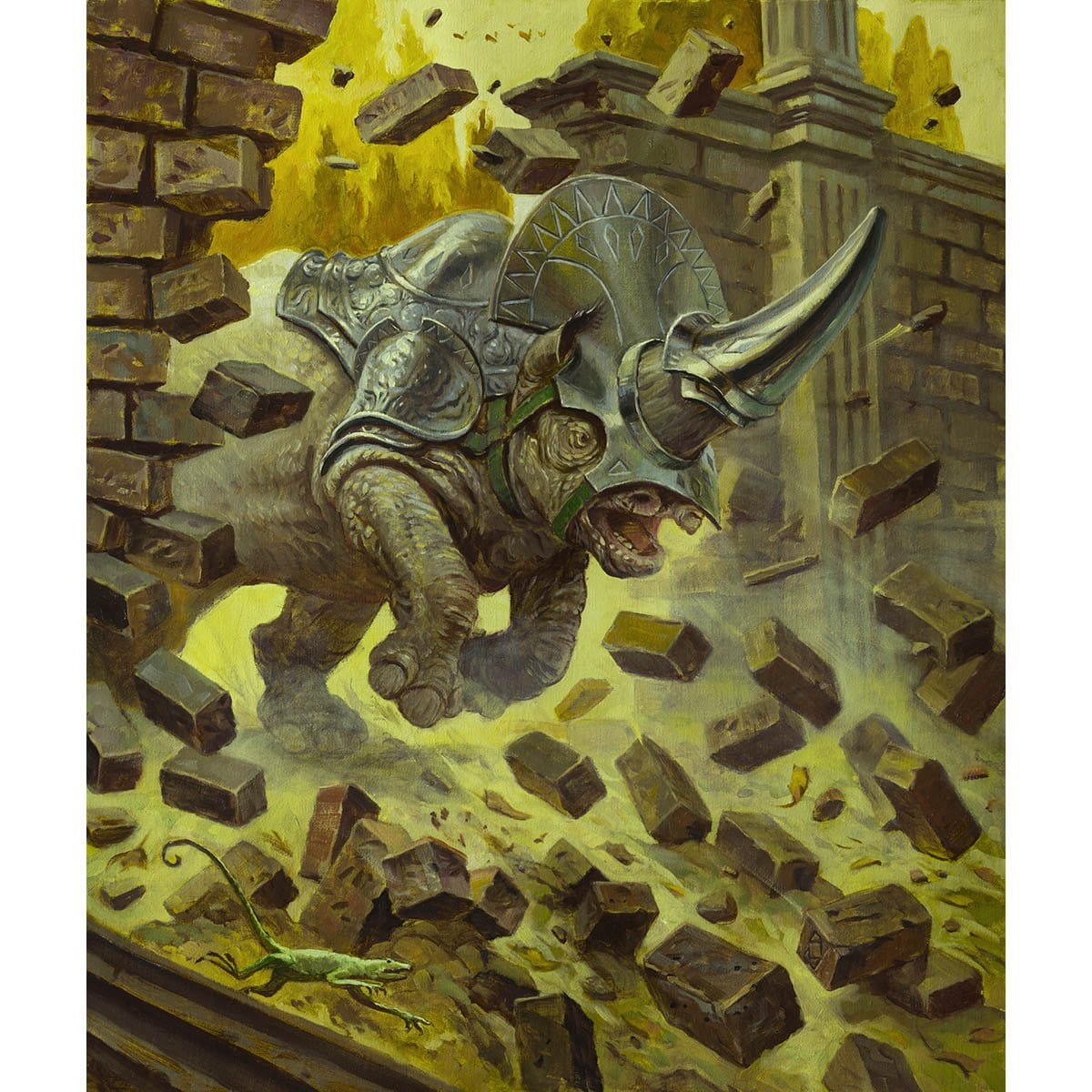 Rhino Token Print - Print - Original Magic Art - Accessories for Magic the Gathering and other card games