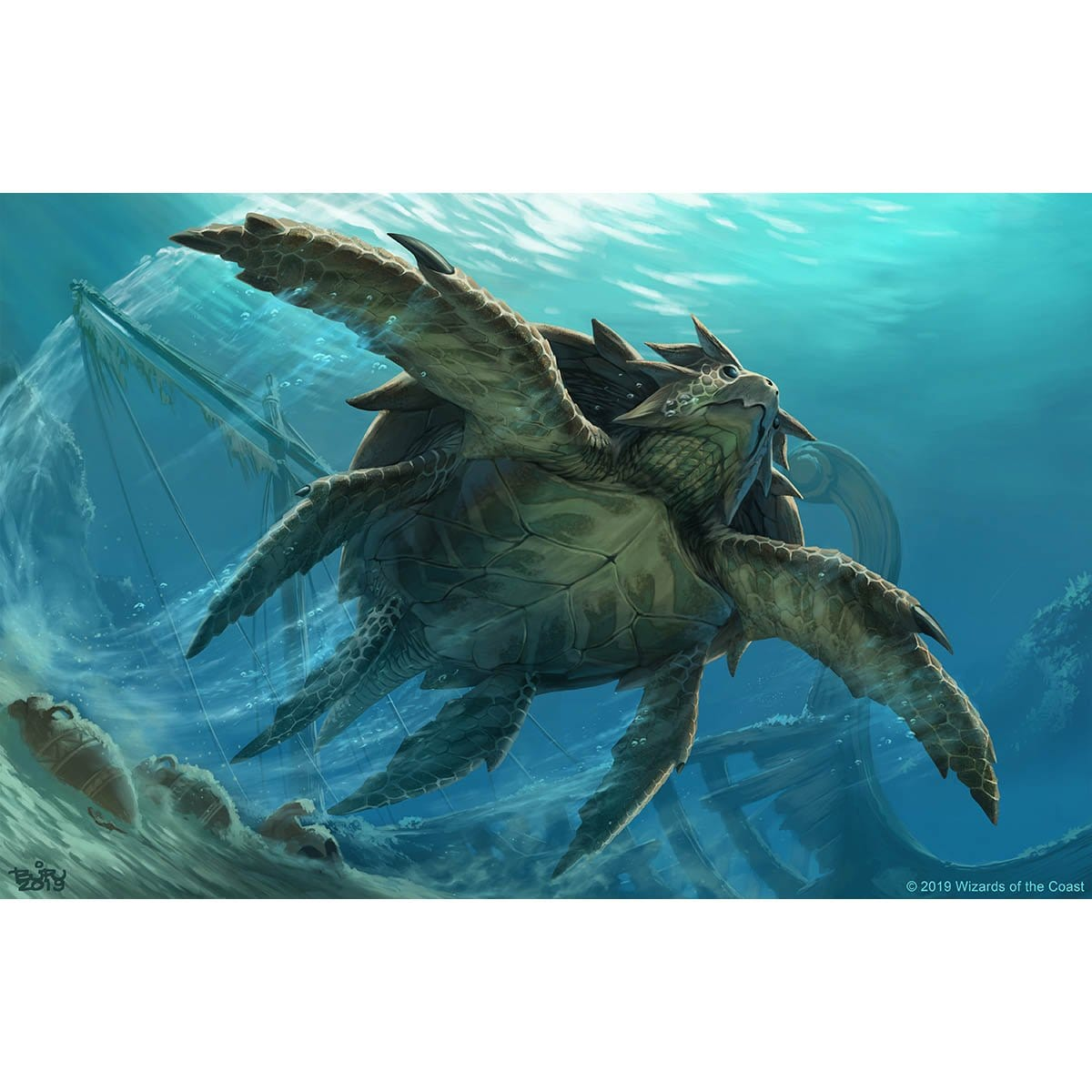 Riptide Turtle Print - Print - Original Magic Art - Accessories for Magic the Gathering and other card games