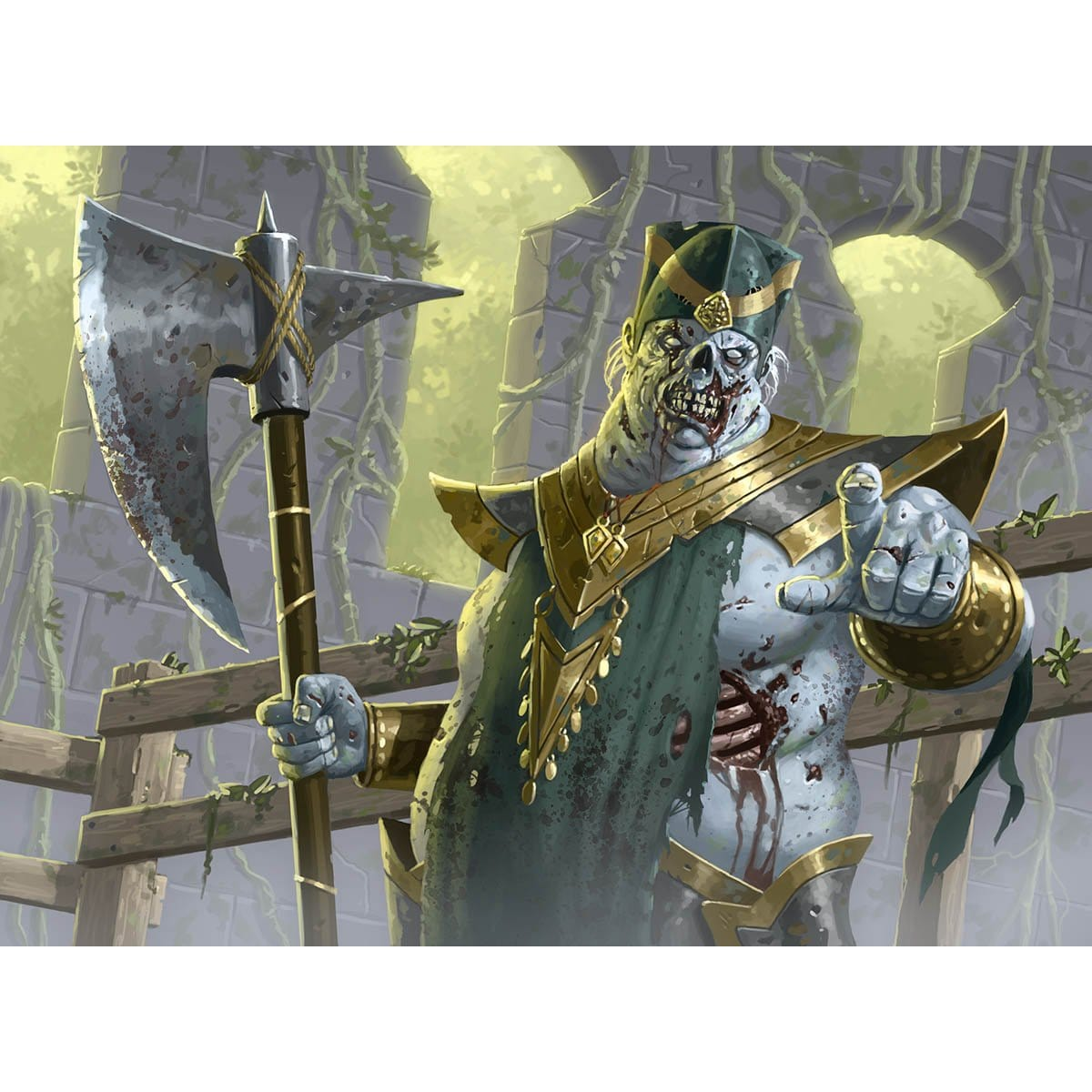 Risen Executioner Print - Print - Original Magic Art - Accessories for Magic the Gathering and other card games
