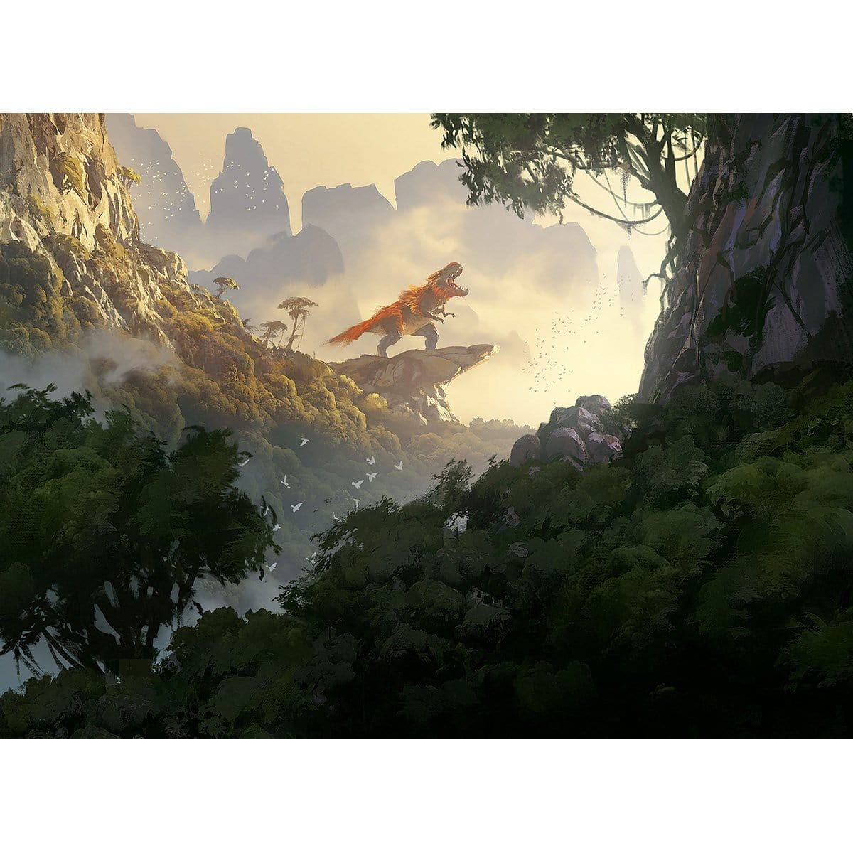 Rootbound Crag Print - Print - Original Magic Art - Accessories for Magic the Gathering and other card games