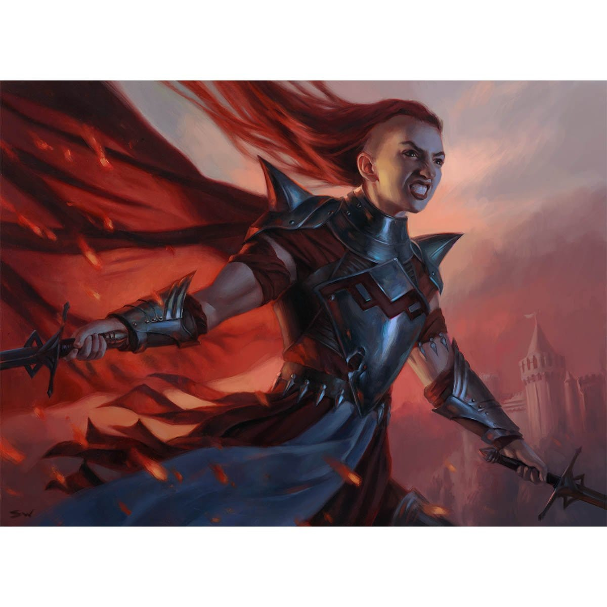 Rowan's Battleguard Print - Print - Original Magic Art - Accessories for Magic the Gathering and other card games