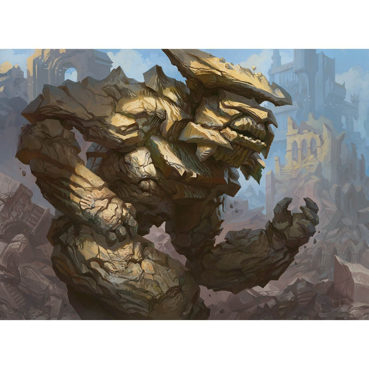 Rumbling Ruin Print - Print - Original Magic Art - Accessories for Magic the Gathering and other card games