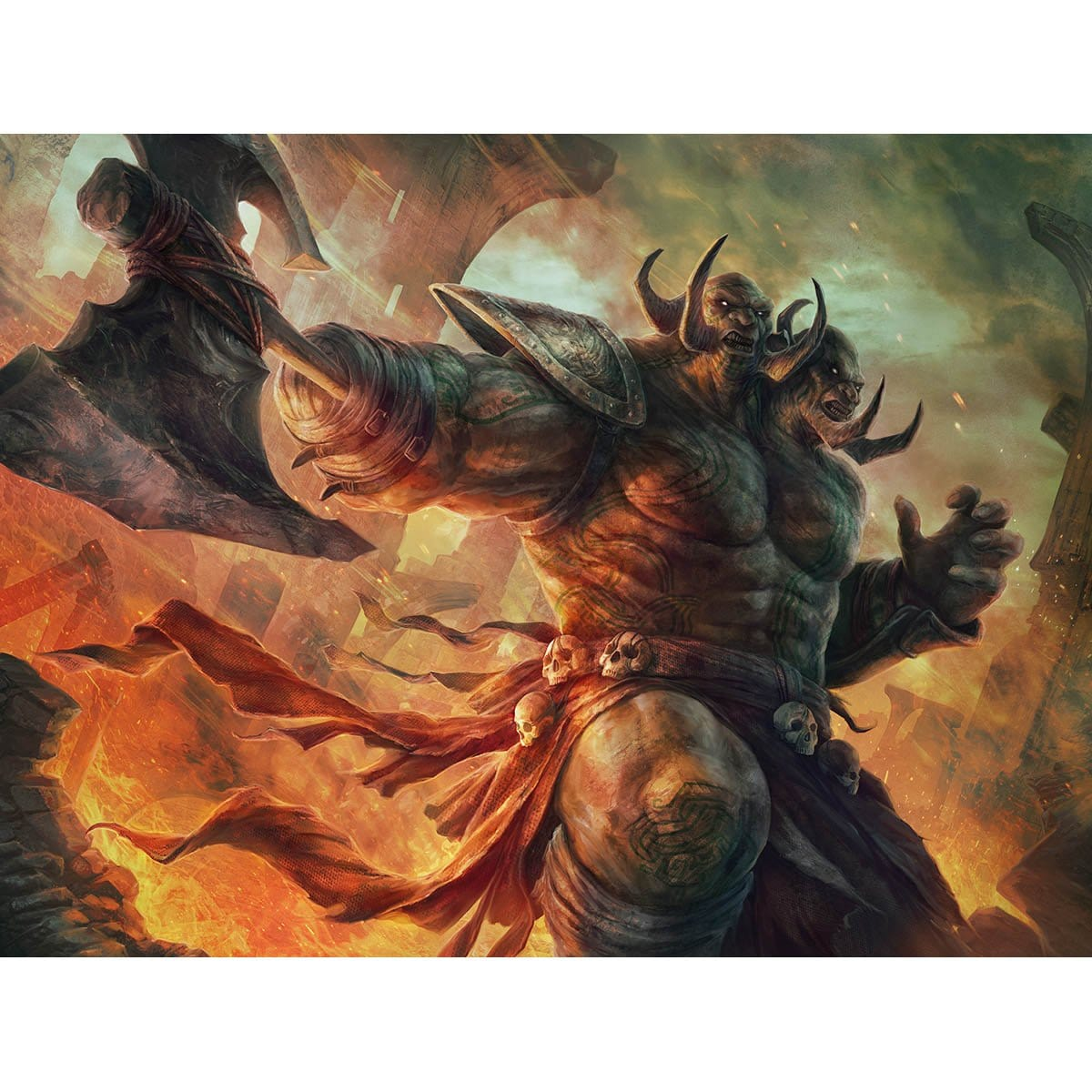 Ruric Thar, the Unbowed Print - Print - Original Magic Art - Accessories for Magic the Gathering and other card games