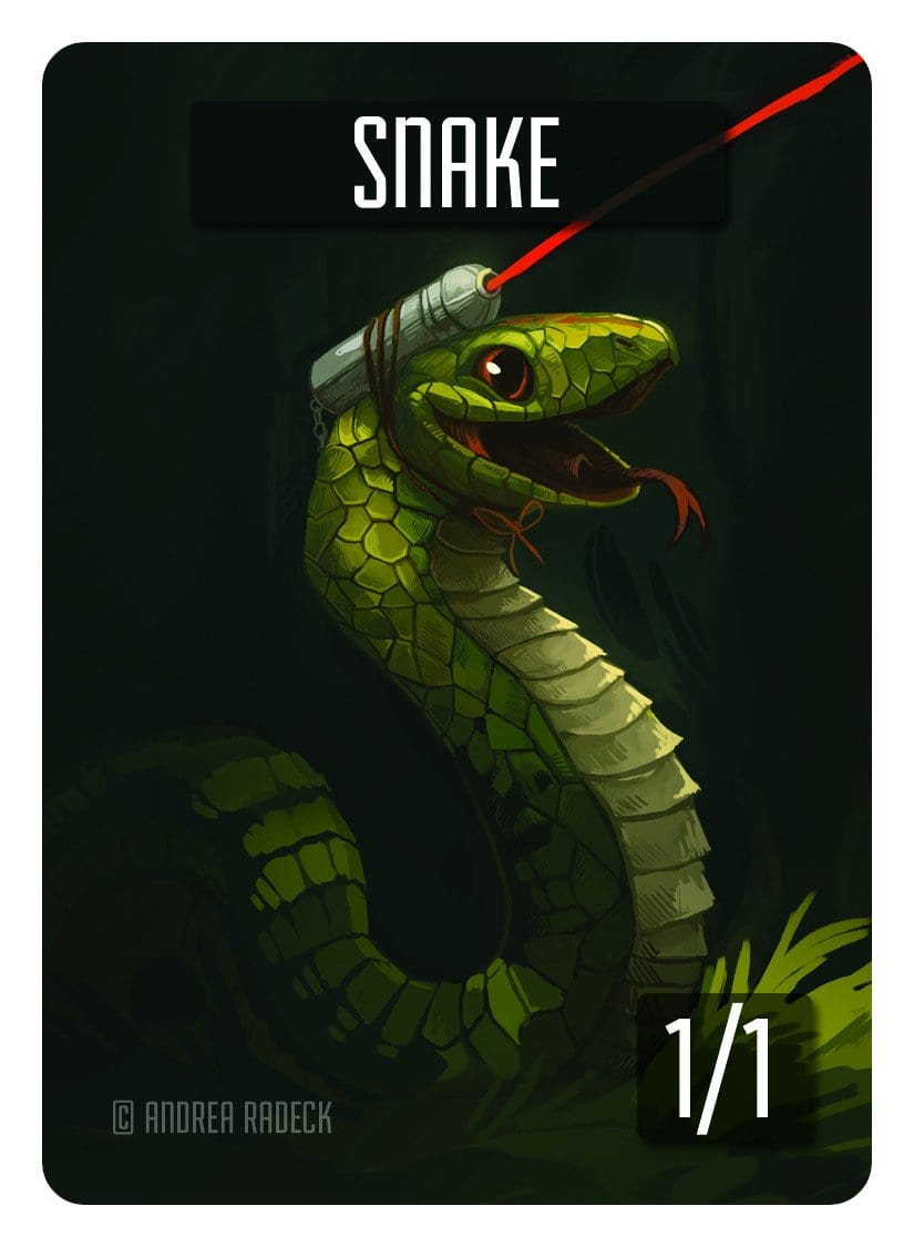Snake Token (1/1) by Andrea Radeck