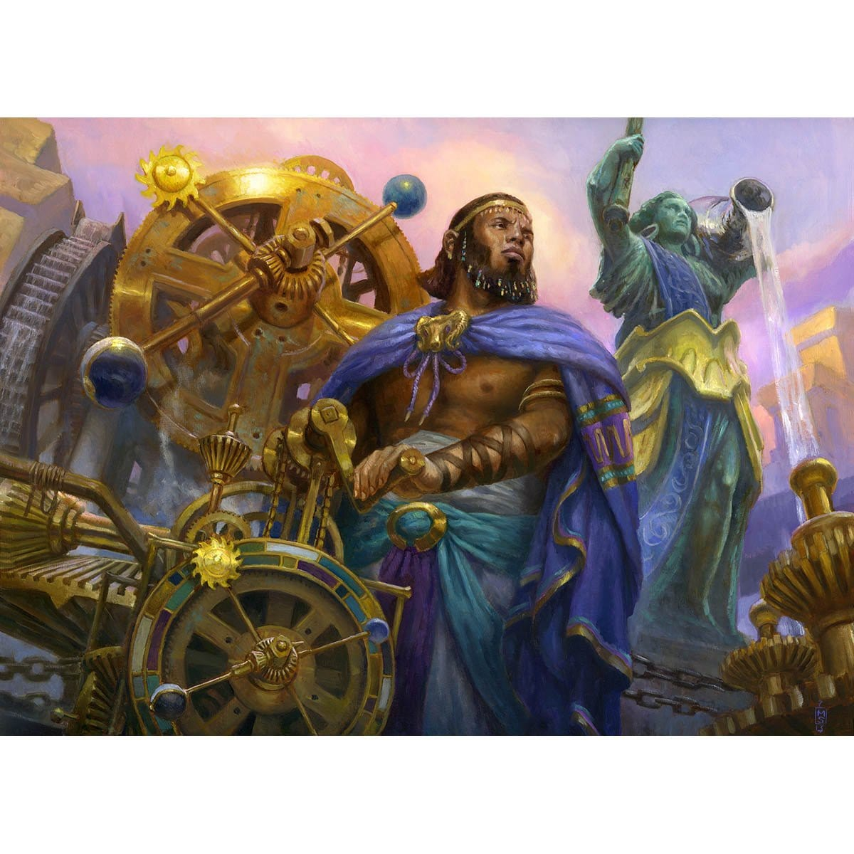 Sage of Hours Print - Print - Original Magic Art - Accessories for Magic the Gathering and other card games