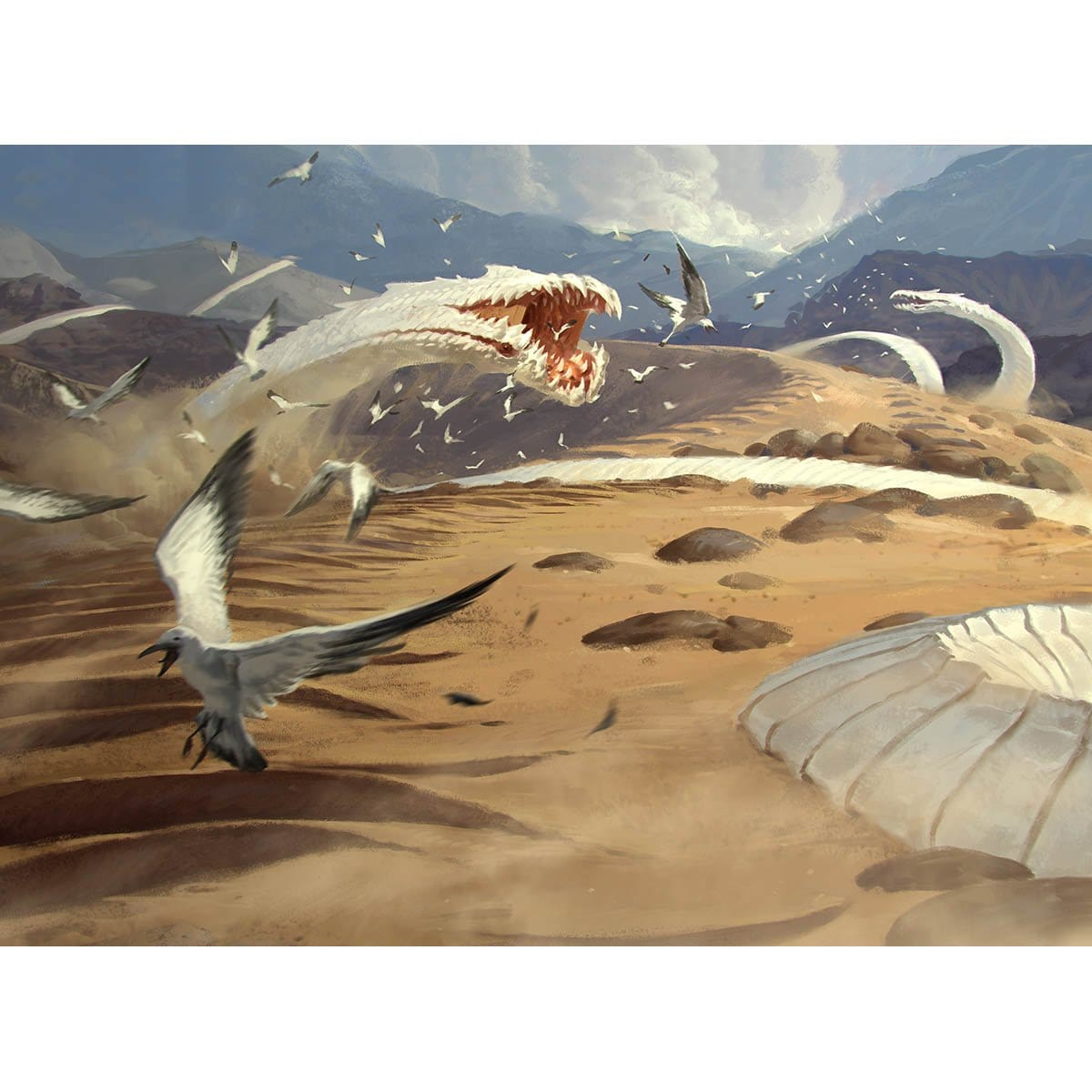 Sandwurm Convergence Print - Print - Original Magic Art - Accessories for Magic the Gathering and other card games