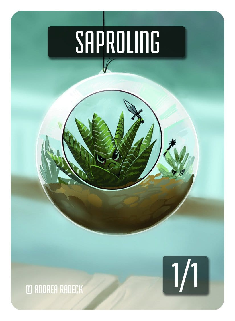 Saproling Token (1/1) by Andrea Radeck