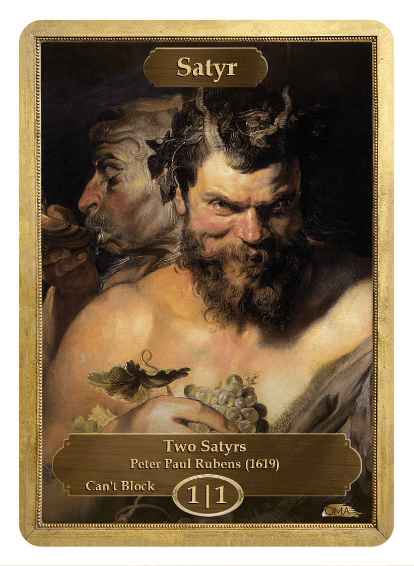 Satyr Token (1/1 - Can't Block) by Peter Paul Rubens - Token - Original Magic Art - Accessories for Magic the Gathering and other card games