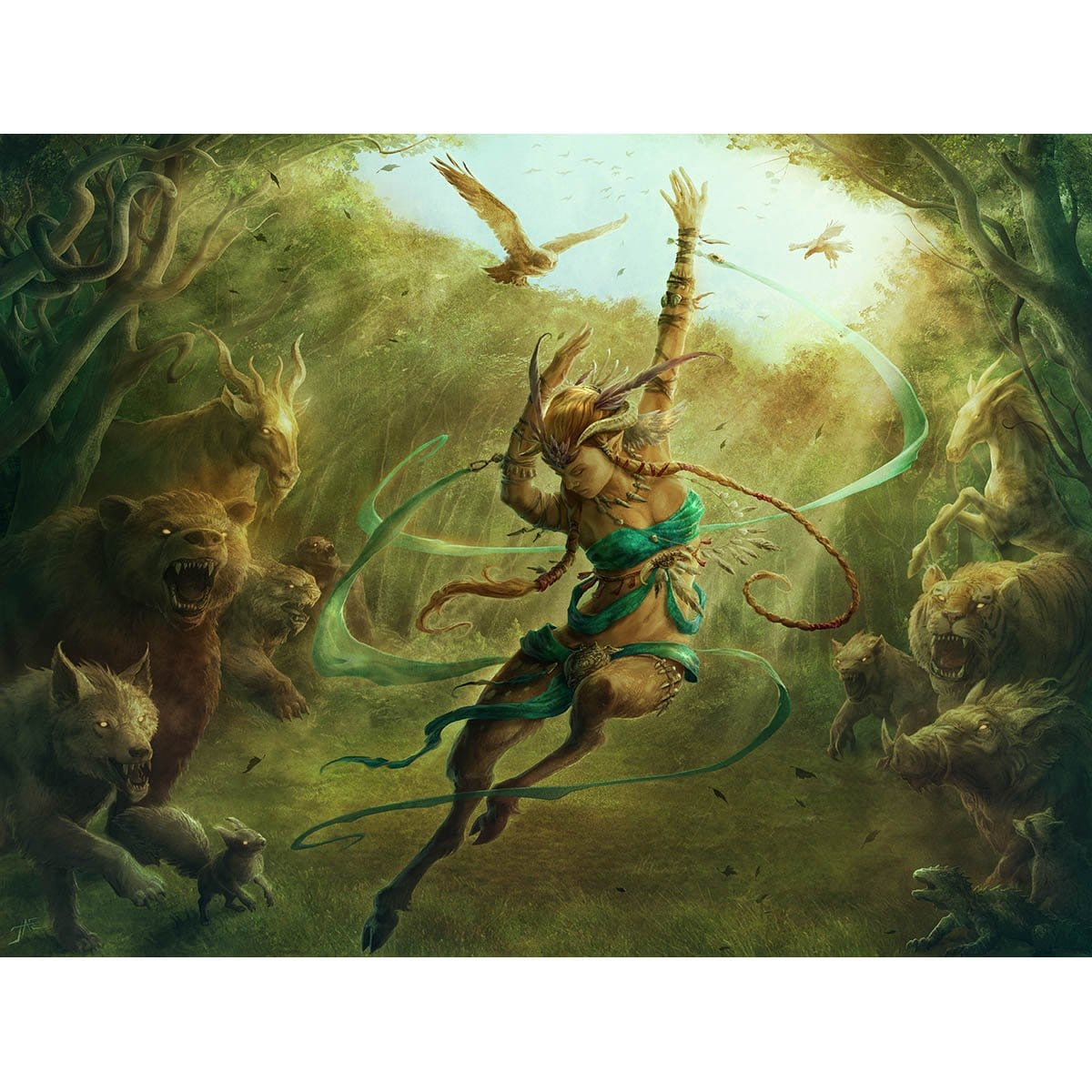 Satyr Grovedancer Print - Print - Original Magic Art - Accessories for Magic the Gathering and other card games