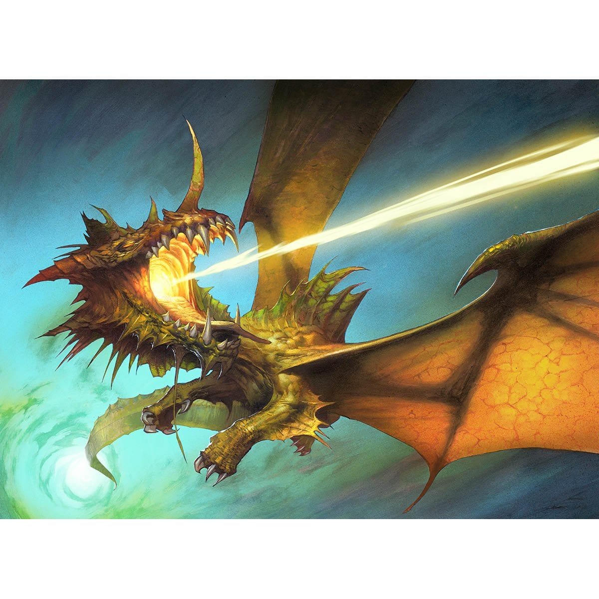 Scion of the Ur-Dragon Print - Print - Original Magic Art - Accessories for Magic the Gathering and other card games