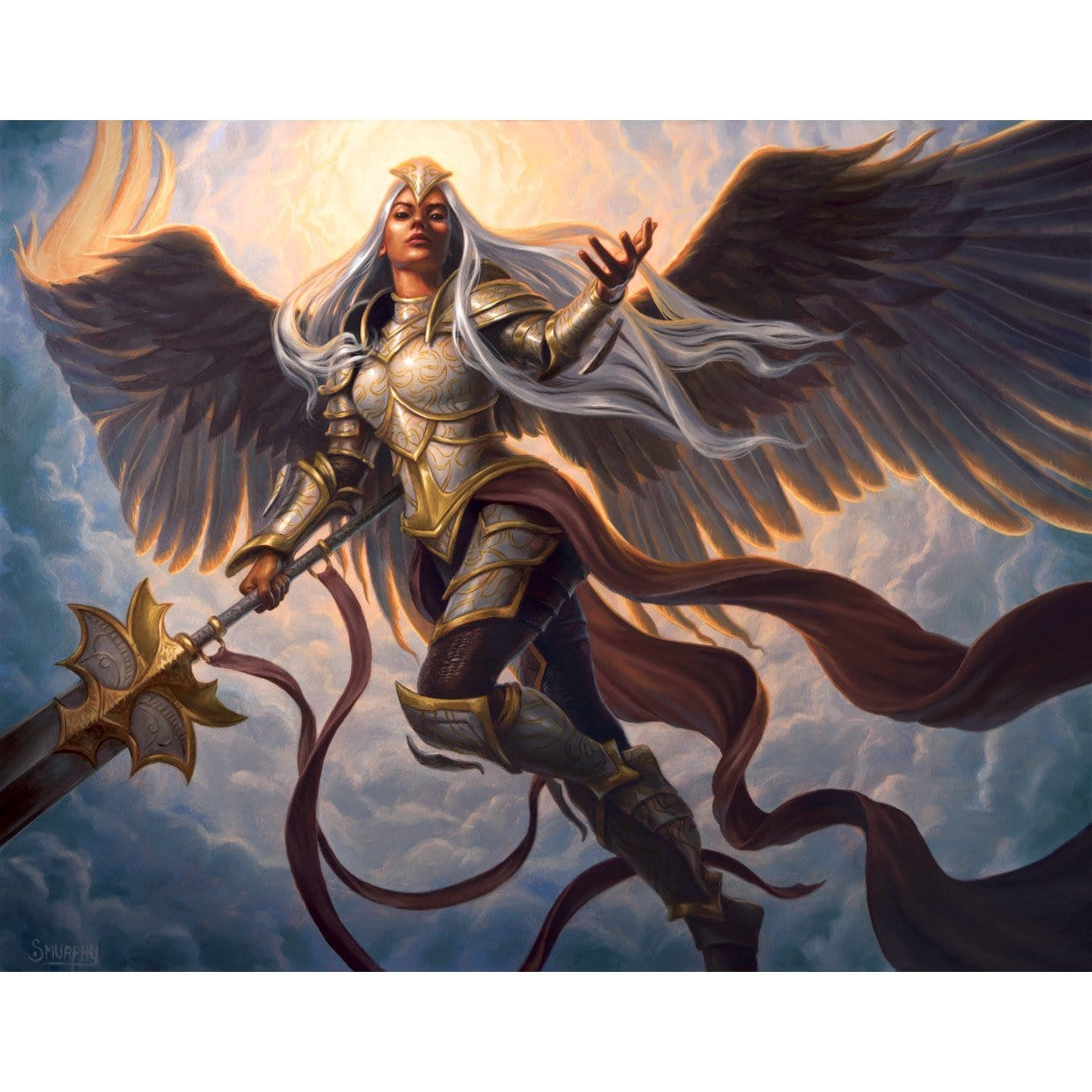 Angelic Field Marshal Print - Print - Original Magic Art - Accessories for Magic the Gathering and other card games