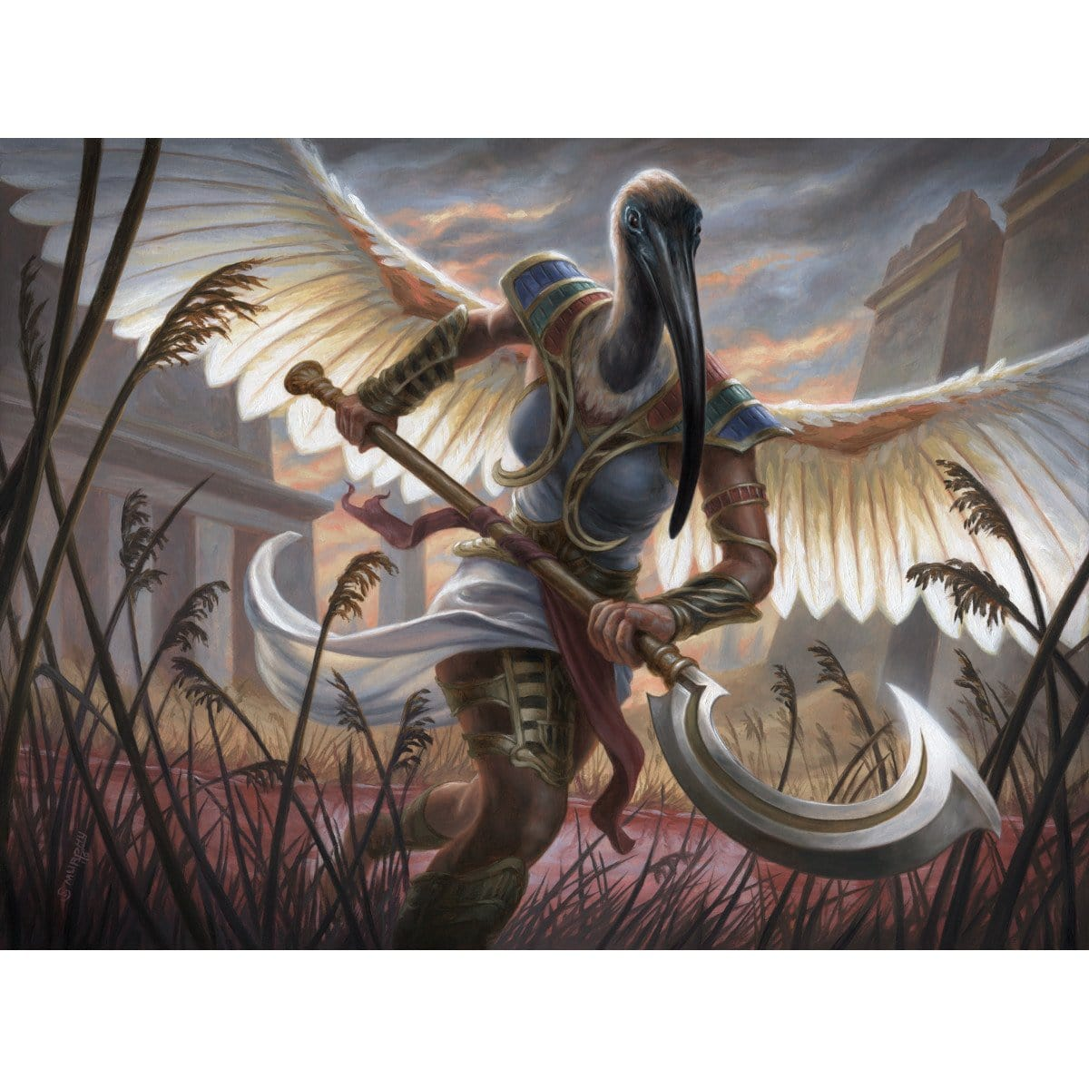 Aven Reedstalker Print - Print - Original Magic Art - Accessories for Magic the Gathering and other card games