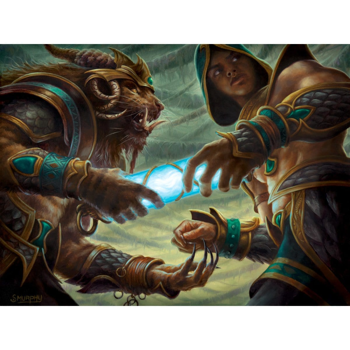 Dark Deal Print - Print - Original Magic Art - Accessories for Magic the Gathering and other card games