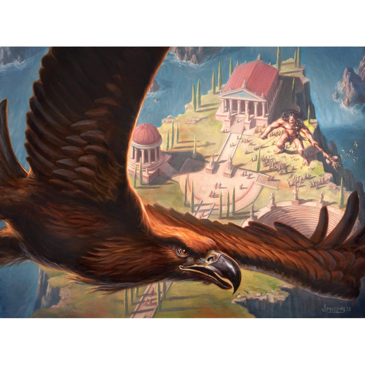Eagle of the Watch Print - Print - Original Magic Art - Accessories for Magic the Gathering and other card games