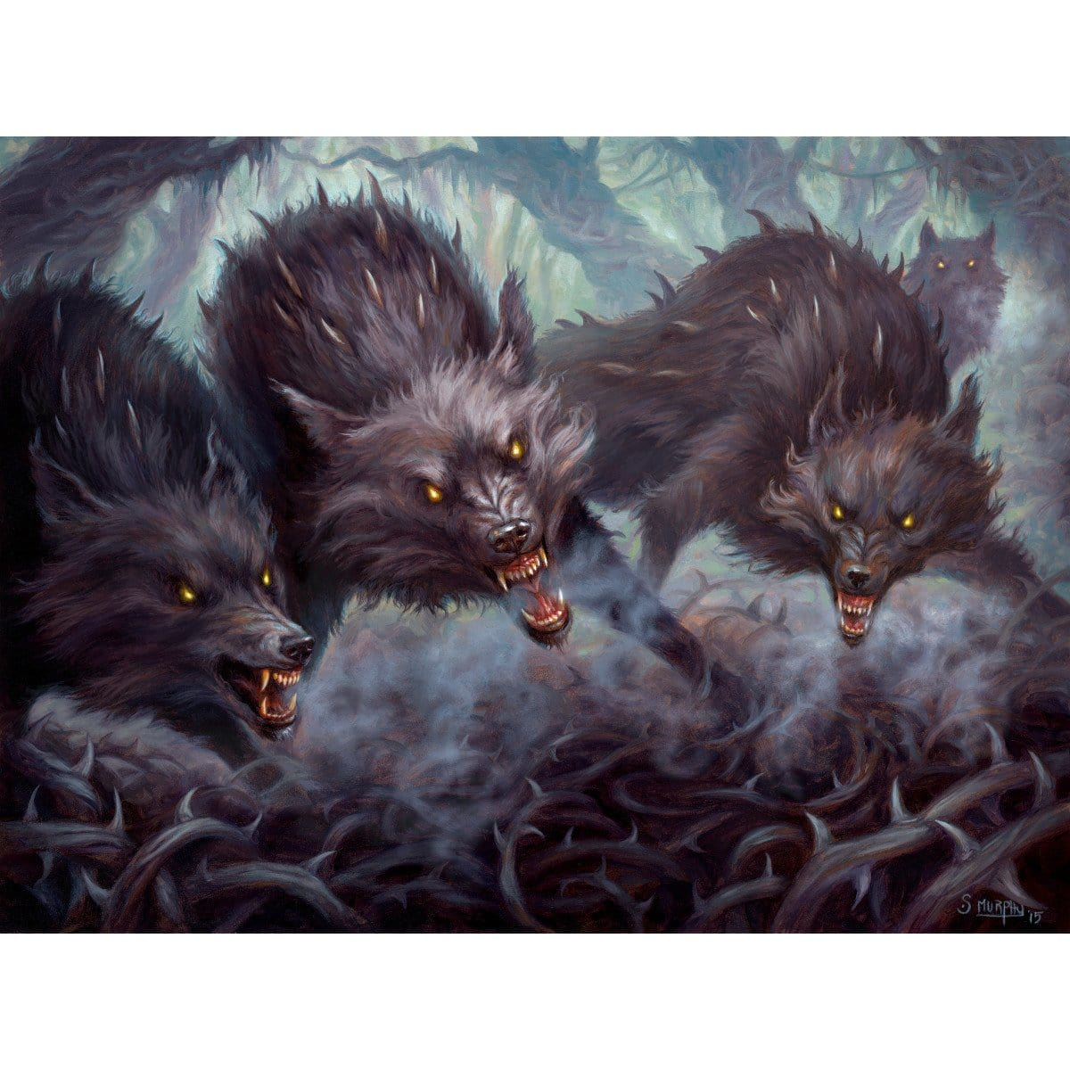 Thornhide Wolves Print - Print - Original Magic Art - Accessories for Magic the Gathering and other card games