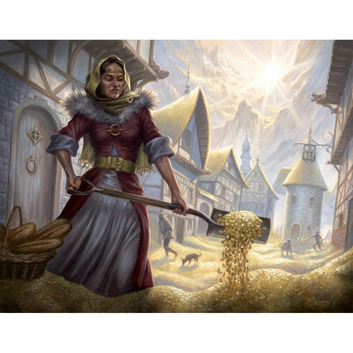 Windfall Print - Print - Original Magic Art - Accessories for Magic the Gathering and other card games