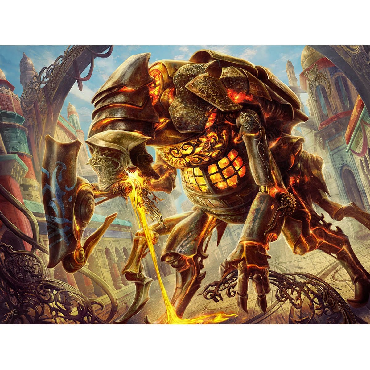 Scrapheap Scrounger Print - Print - Original Magic Art - Accessories for Magic the Gathering and other card games