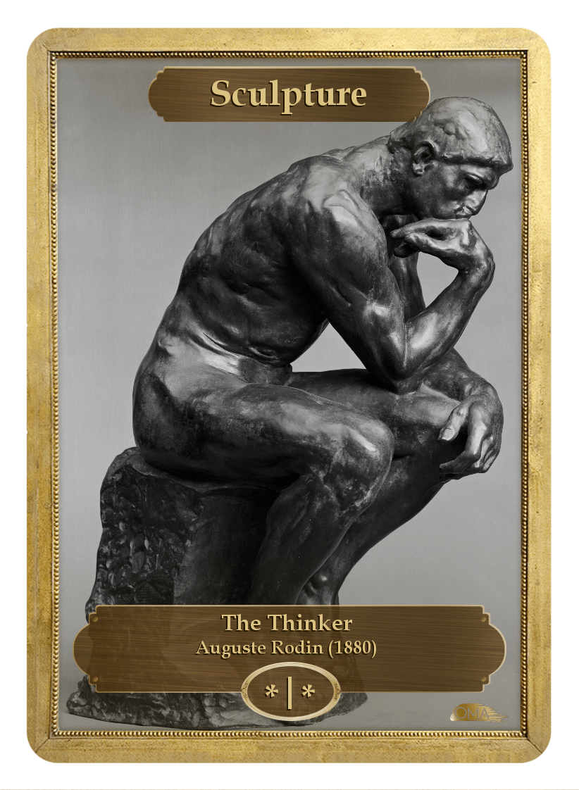 Sculpture Token (*/*) by Auguste Rodin - Token - Original Magic Art - Accessories for Magic the Gathering and other card games