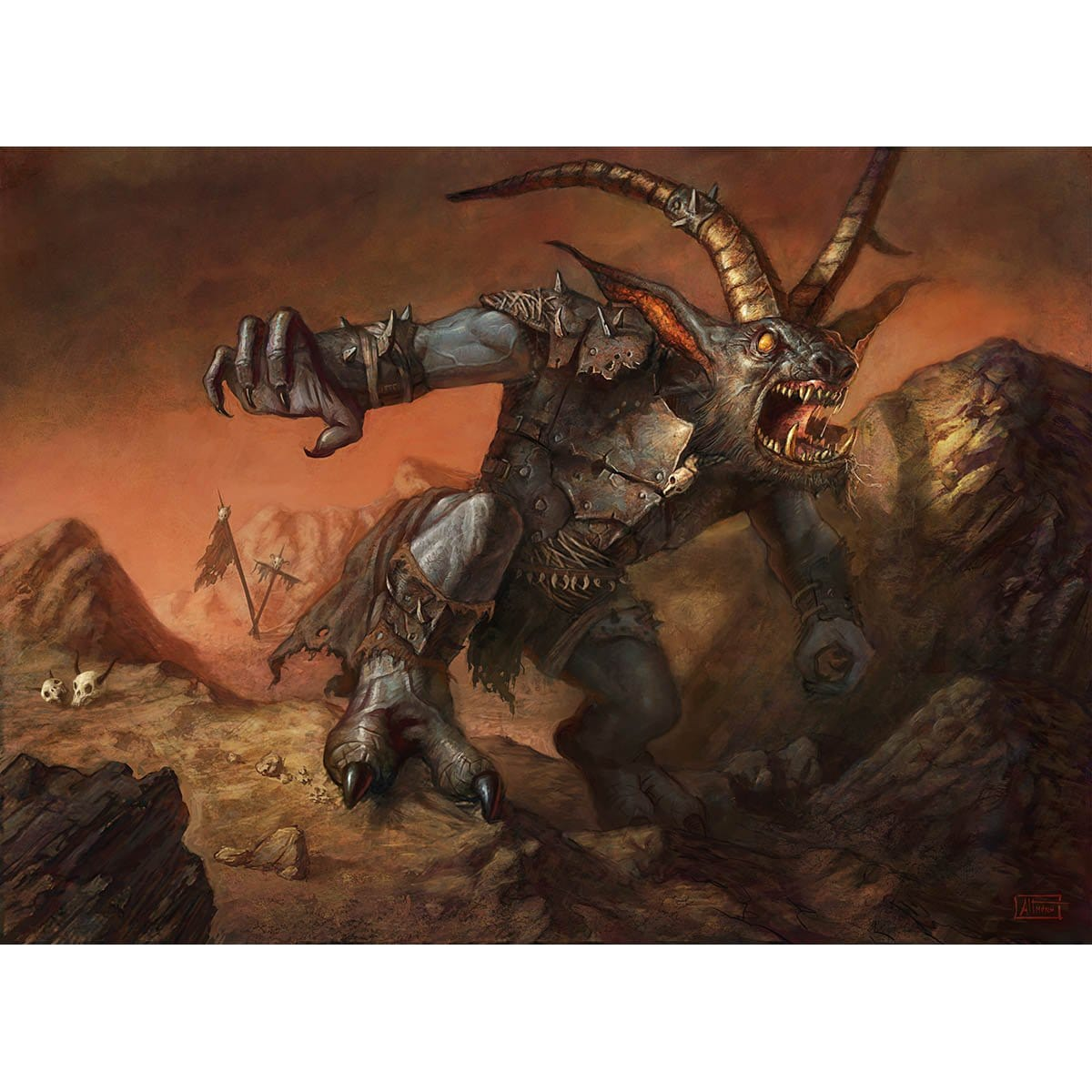 Scuzzback Scrapper Print - Print - Original Magic Art - Accessories for Magic the Gathering and other card games
