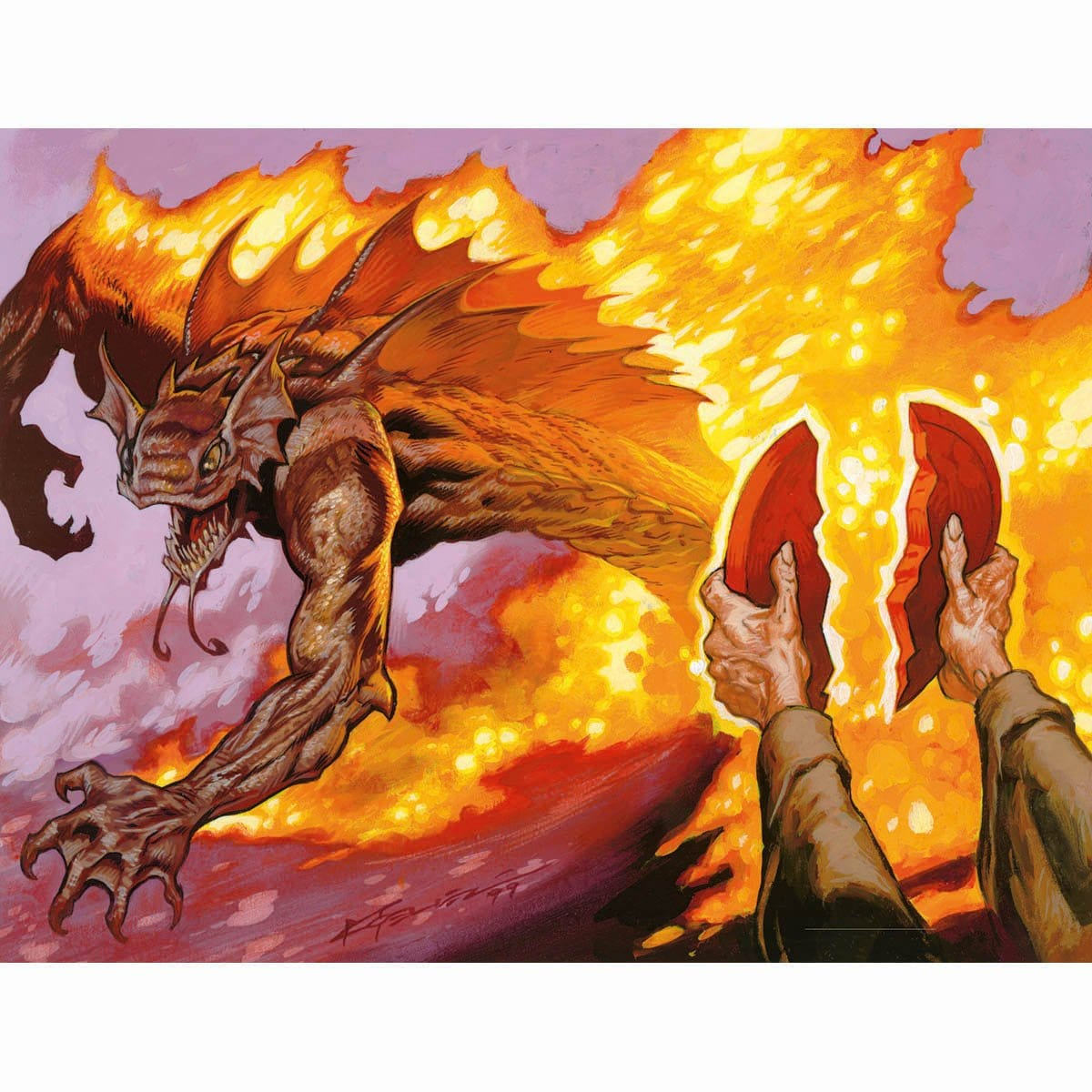 Seal of Fire Print - Print - Original Magic Art - Accessories for Magic the Gathering and other card games