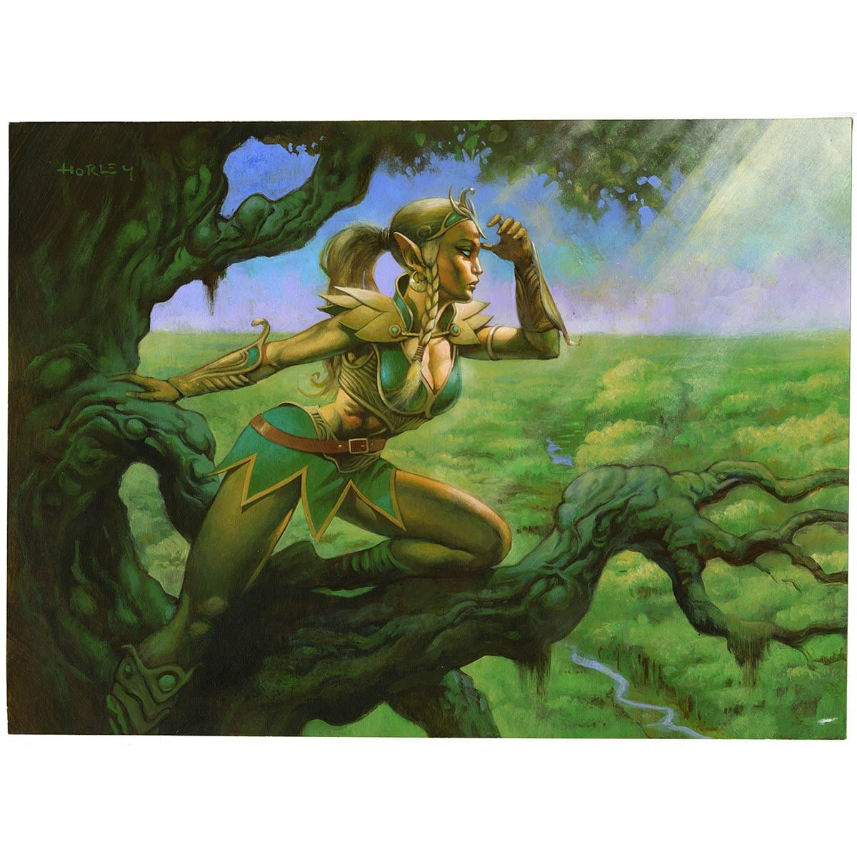 Seeker of Skybreak Print - Print - Original Magic Art - Accessories for Magic the Gathering and other card games