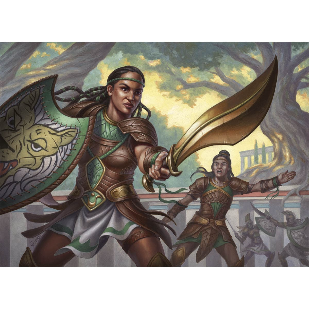 Setessan Training Print - Print - Original Magic Art - Accessories for Magic the Gathering and other card games