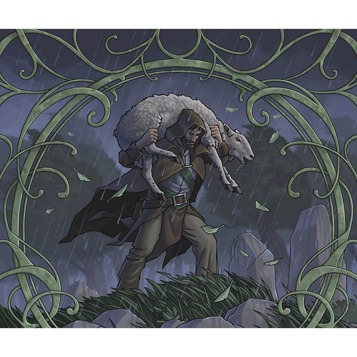 Shepherd of the Flock Print - Print - Original Magic Art - Accessories for Magic the Gathering and other card games