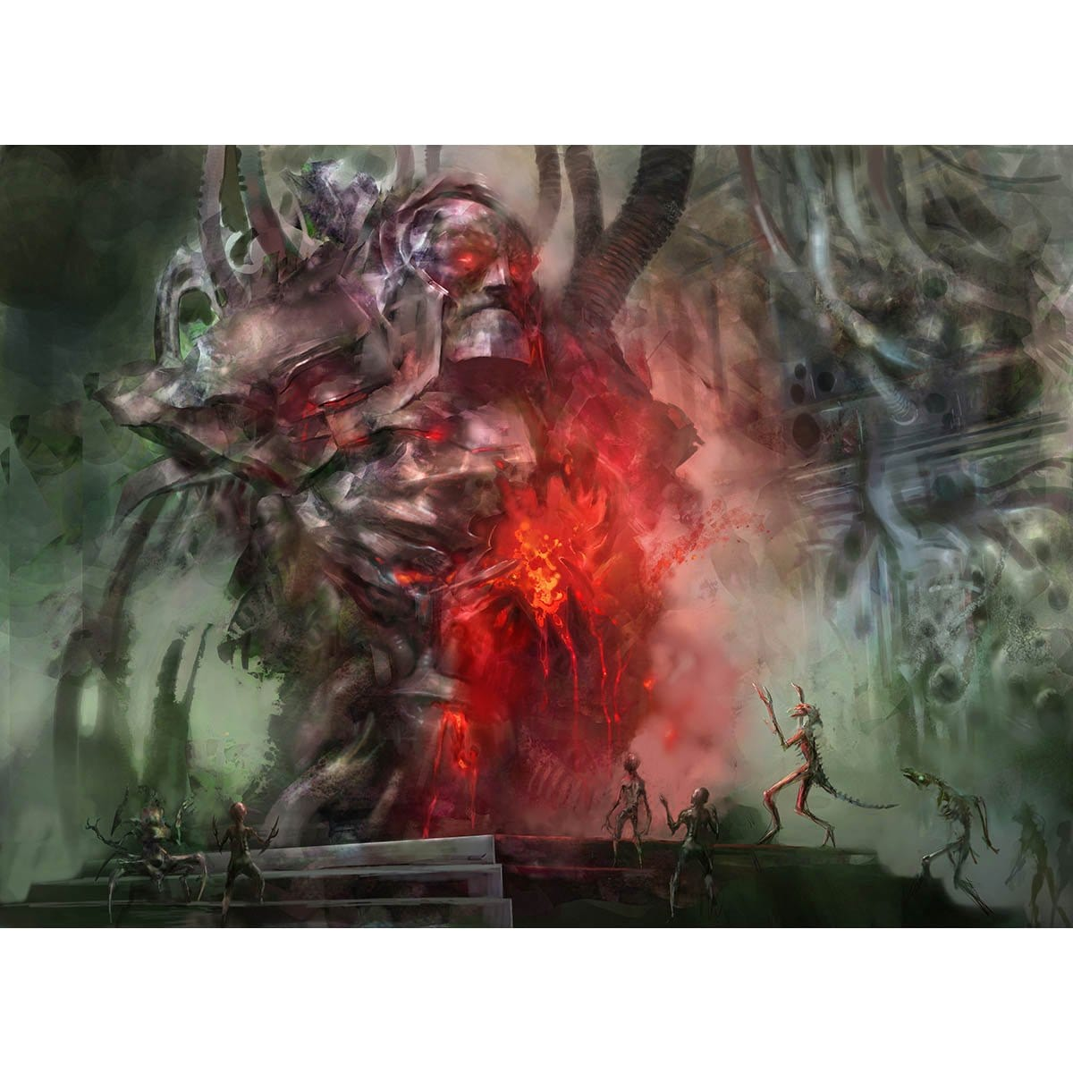 Shrine of Burning Rage Print - Print - Original Magic Art - Accessories for Magic the Gathering and other card games