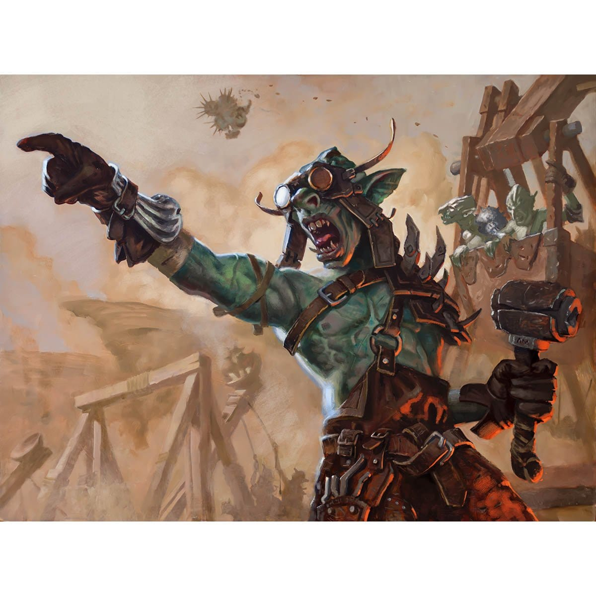 Siege-Gang Commander Print - Print - Original Magic Art - Accessories for Magic the Gathering and other card games