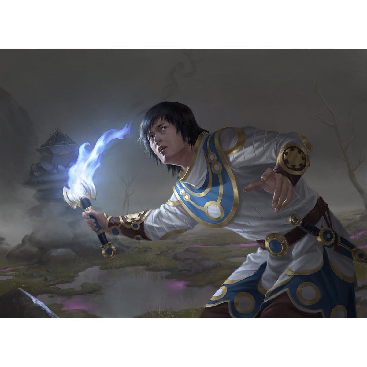 Silverflame Squire Print - Print - Original Magic Art - Accessories for Magic the Gathering and other card games