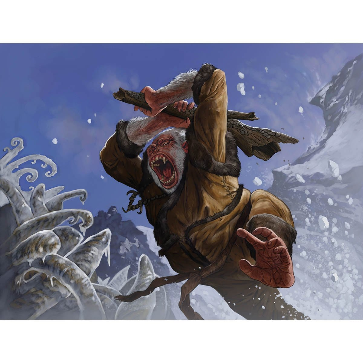 Simian Brawler Print - Print - Original Magic Art - Accessories for Magic the Gathering and other card games